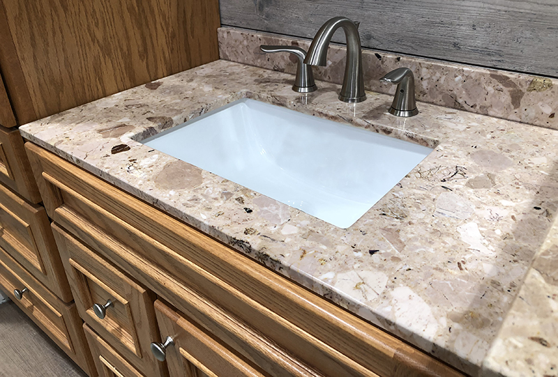 Granite top bathroom vanity